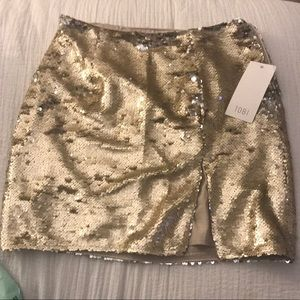 a82f5c79c6 Gold Sequin Skirt- Perfect for NYE! Gold Sequin Tube Top ...